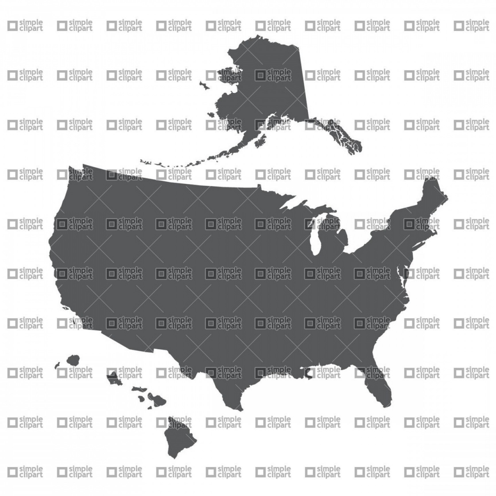 Alaska silhouette clipart svg free library Us Map With Alaska Silhouette New Usa Map Outline With Alaska And ... svg free library