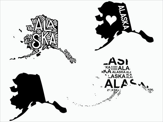 Alaska silhouette clipart download Alaska state svg/ Alaska svg/ Alaska vector/ Alaska clipart/ AK ... download