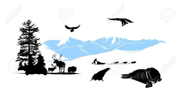 Alaska silhouette clipart royalty free 25+ Alaska Mountain Silhouette Landscape Pictures and Ideas on Pro ... royalty free