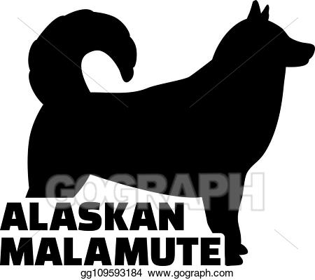 Alaska silhouette clipart clipart library stock EPS Vector - Alaskan malamute silhouette real word. Stock Clipart ... clipart library stock