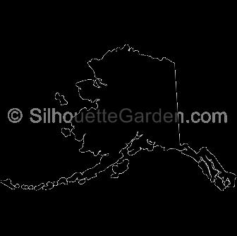 Alaska silhouette clipart picture free download Alaska Silhouette picture free download