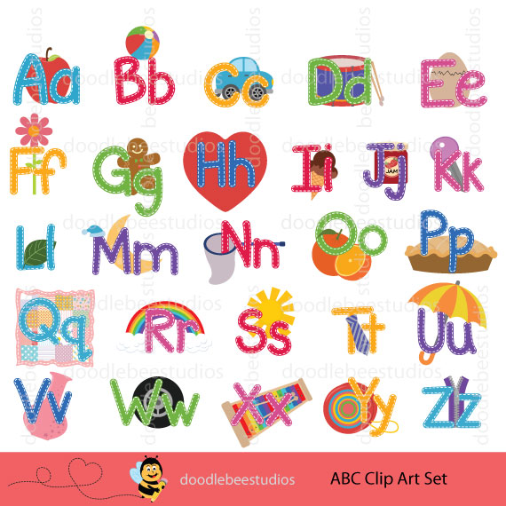The alphabet clipart graphic library stock Alphabet Clipart Set graphic library stock