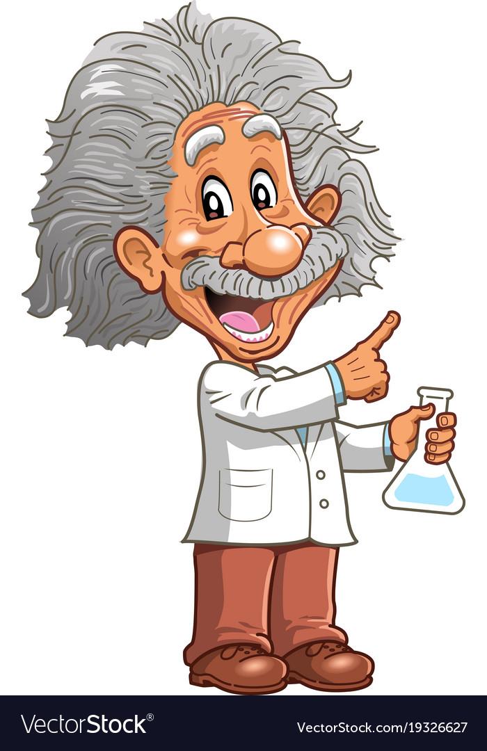 Albert einstein science clipart banner library download Albert einstein professor genius scientist banner library download