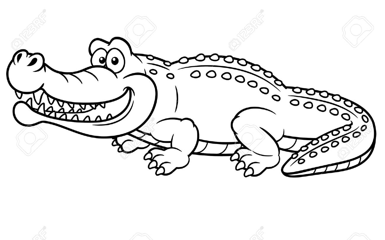 Albino aligator clipart clipart royalty free library American Alligator Drawing at GetDrawings.com | Free for personal ... clipart royalty free library