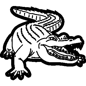 Swamp aligator animals clipart png library stock Free Black And White Alligator Clipart, Download Free Clip Art, Free ... png library stock