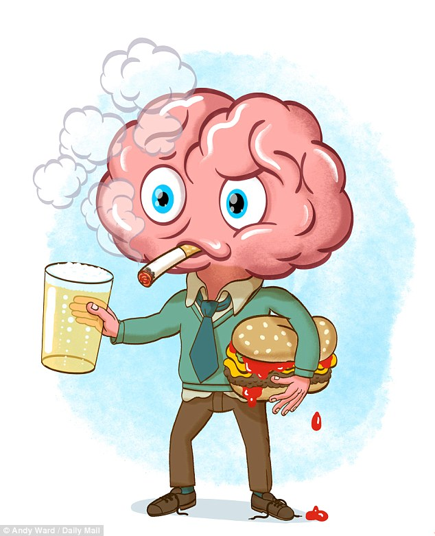 Alchohol bad for brain clipart banner free stock Drinking, smoking and eating too much fast food can sabotage your ... banner free stock
