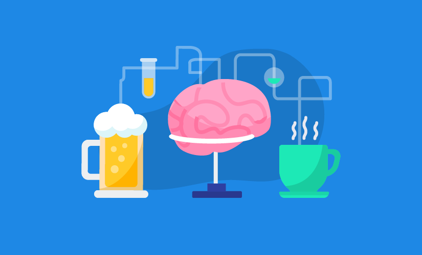 Alchohol bad for brain clipart banner freeuse download This is your brain on caffeine vs. alcohol | The JotForm Blog banner freeuse download