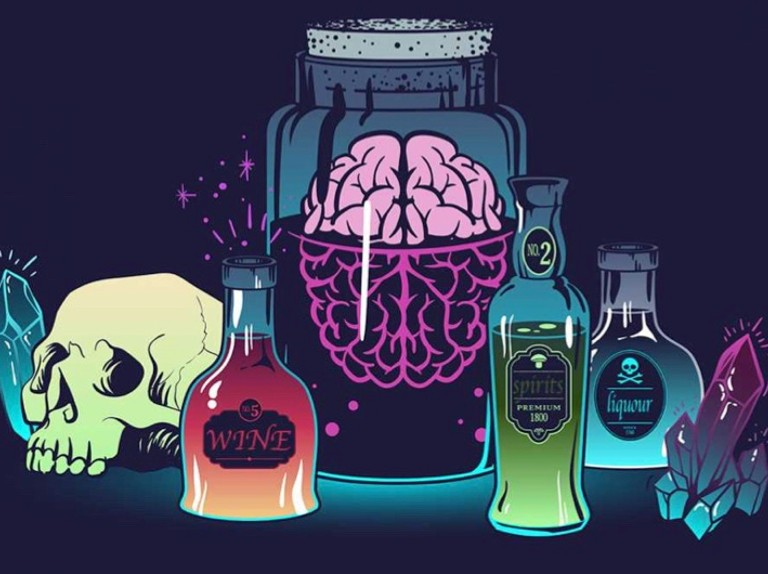 Alchohol bad for brain clipart black and white library What are the effects of alcohol on the brain? - BBC Science Focus ... black and white library