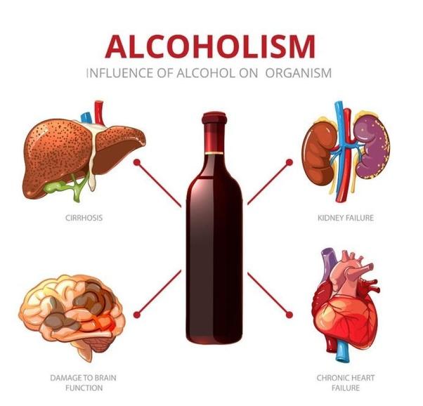 Alchohol bad for brain clipart
