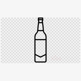 Alcohol bottle clipart black and white clip art black and white stock Beer Bottle Alcoholic Drink Plastic Bottle #106415 - Free Cliparts ... clip art black and white stock