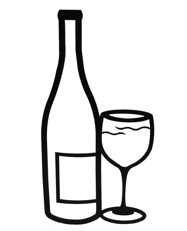 Wine glass or bottle clipart banner black and white stock Wine Bottle Black And White | Free download best Wine Bottle Black ... banner black and white stock