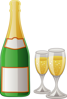Champagne bottle and glasses clipart png free stock Free Bottle Cliparts, Download Free Clip Art, Free Clip Art on ... png free stock