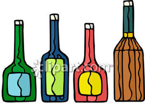 Alcohol bottle free clipart vector Bottles of Alcohol - Royalty Free Clipart Picture vector