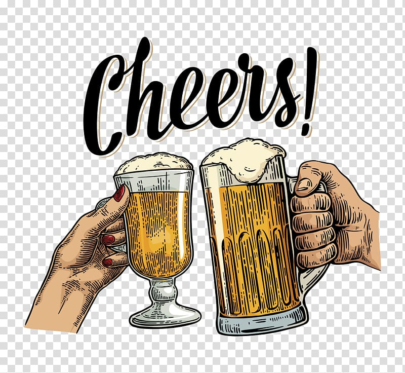 Alcohol cheers clipart png clipart library library Two glass cups with beer and cheers text, Beer cocktail Beer Glasses ... clipart library library