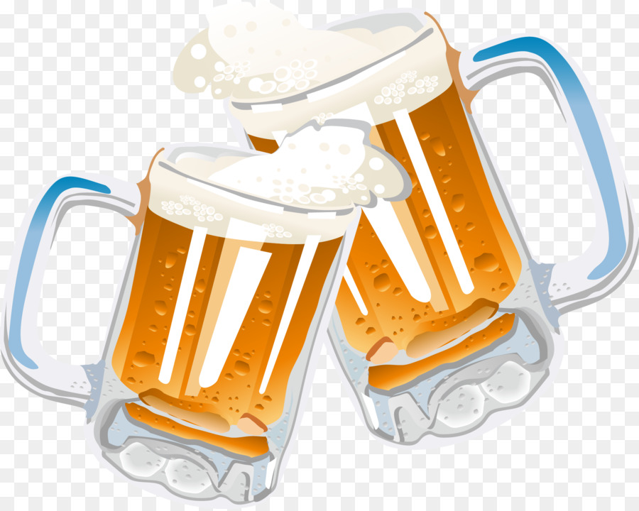 Toasting beer mugs clipart