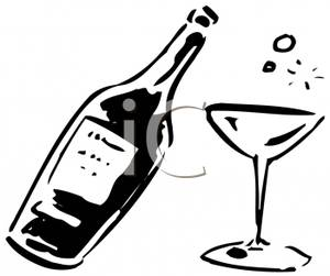 Black and white alcohol clipart clip freeuse Alcohol clipart black and white 1 » Clipart Station clip freeuse