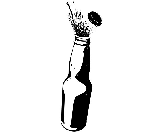 Alcohol clipart vector image library download Beer, Bottle, Opening, Alcohol, Silhouette,SVG,Graphics,Illustration ... image library download