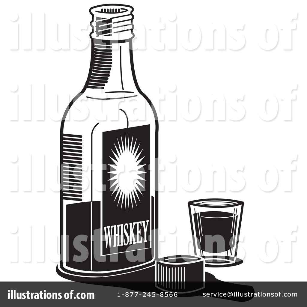 Alcohol clipart illustration graphic black and white stock Alcohol Clipart #14939 - Illustration by Andy Nortnik graphic black and white stock