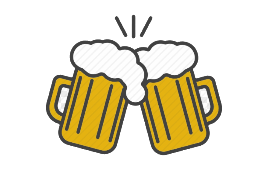 Alcohol clipart pictures clipart black and white Beer Alcohol Clipart Toast Cheers Vector Transparent Png - AZPng clipart black and white