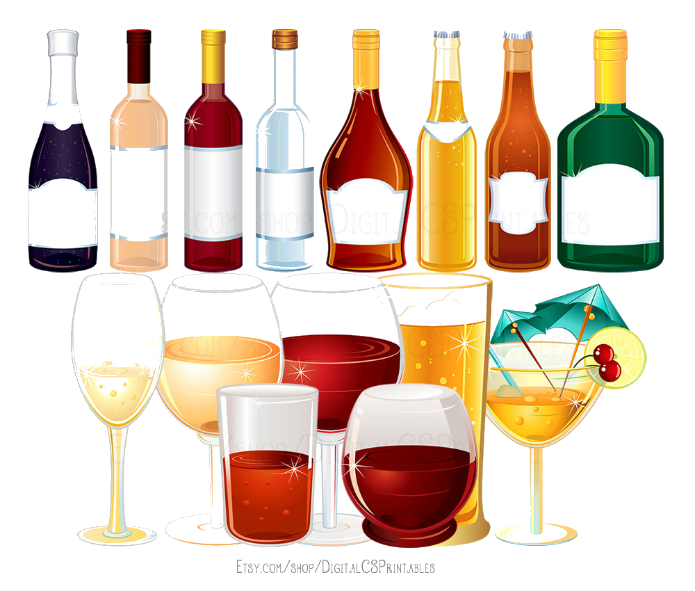 Free clipart alcohol graphic black and white stock Alcohol Free Alcoholic Drinks Cliparts Clip Art Transparent Png - AZPng graphic black and white stock