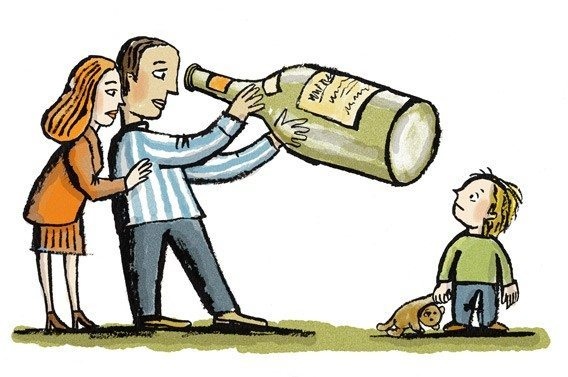 Alcoholism family clipart jpg free library Alcoholic Parent: Its Effects on Kids - YourDOST Blog jpg free library