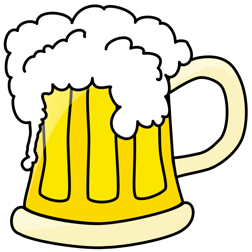 June beer clipart clipart black and white File:Beer mug.svg - Wikipedia clipart black and white