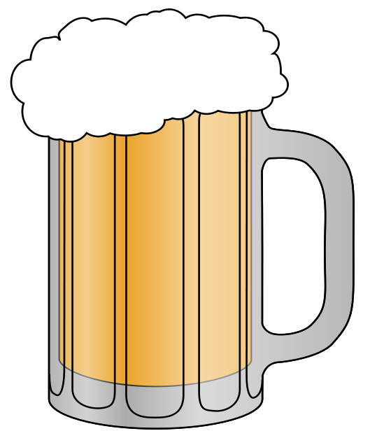 Beer clipart free vector black and white library Beer Clip Art & Images - Free for Commercial Use | beer mugs | Beer ... vector black and white library