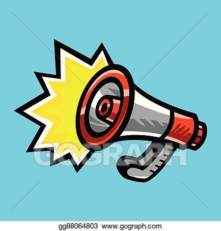 Alert megaphone clipart