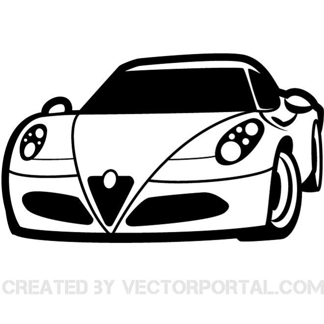 Vector illustration of a luxury car. | Vehicles Free Vectors ... image free