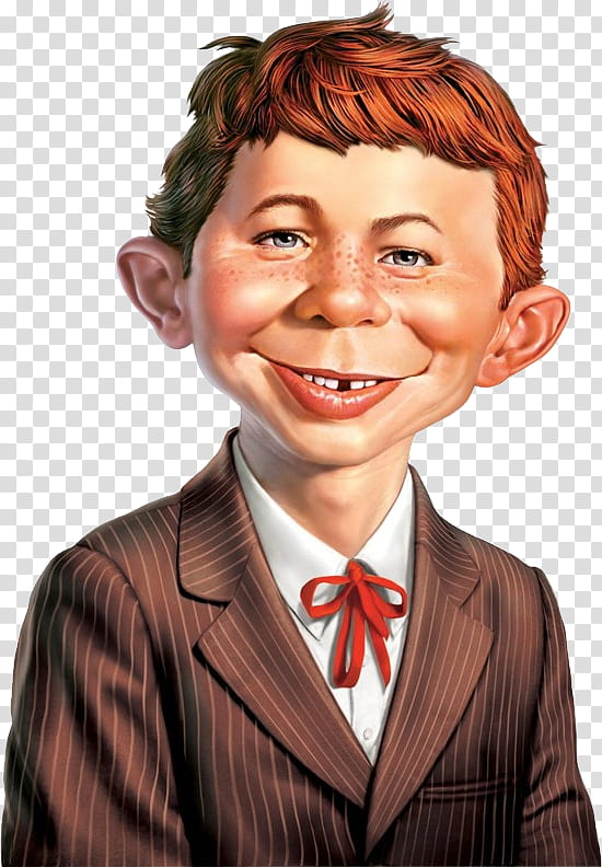 Alfred e neuman clipart jpg black and white download MAD Alfred E Neuman transparent background PNG clipart | HiClipart jpg black and white download