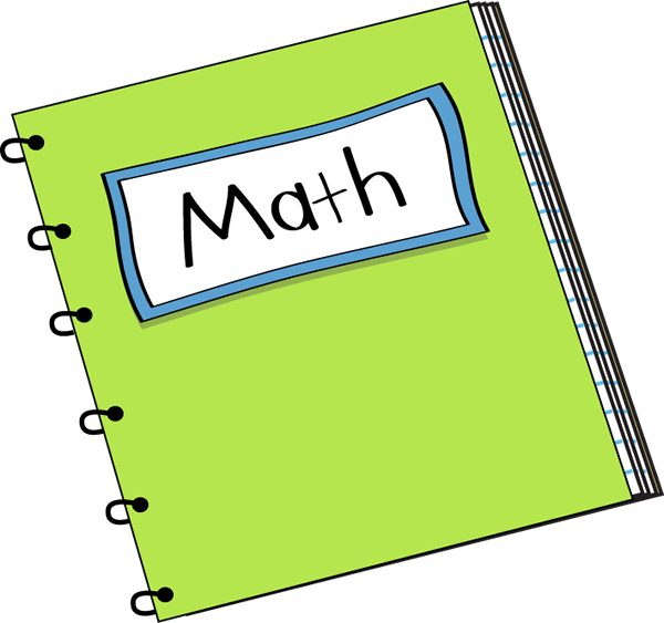 School math clipart image transparent Math Notebook Clip Art - Math Notebook Vector Image | First Then ... image transparent