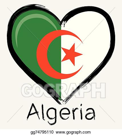 Algeria clipart png freeuse download EPS Vector - Love algeria flag. Stock Clipart Illustration ... png freeuse download