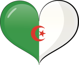 Algeria clipart clip art royalty free library Algeria Heart Flag Clipart | i2Clipart - Royalty Free Public Domain ... clip art royalty free library