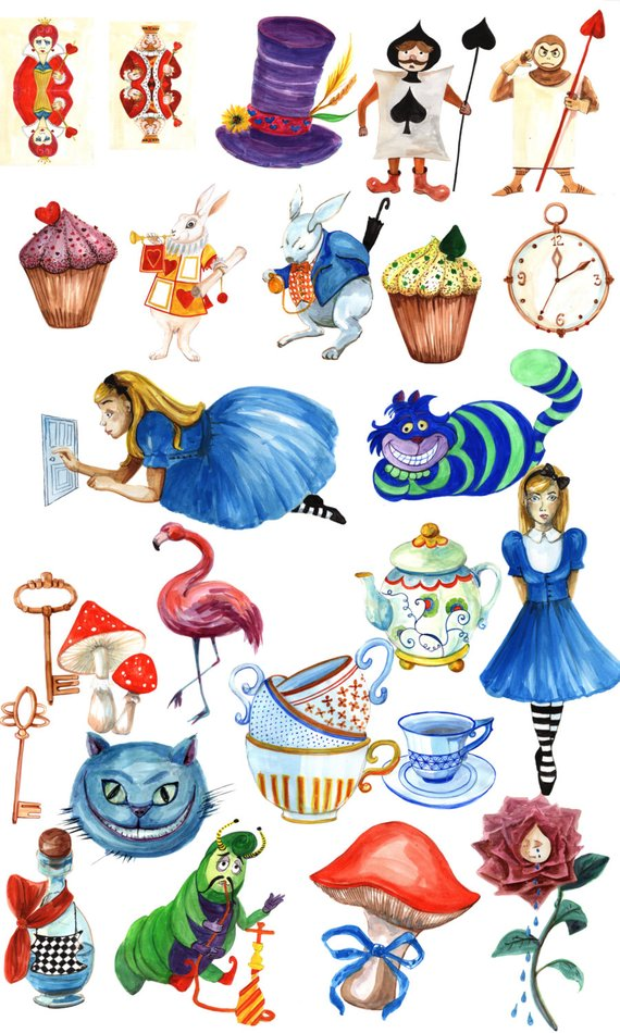 Alice caterpillar ride clipart jpg royalty free library Alice in Wonderland clipart: \