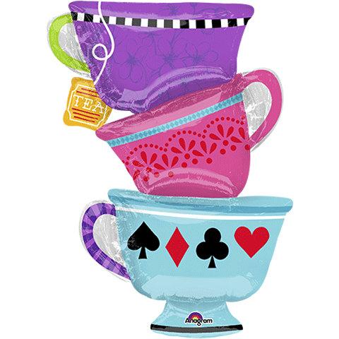 Alice in the wonderland tea cup clipart royalty free stock alice in wonderland balloon, tea cup balloon, tea cup party, queen ... royalty free stock