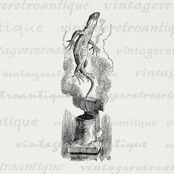 Alice in wonderland bill clipart jpg royalty free library Digital printable alice in wonderland graphic bill the lizard image ... jpg royalty free library