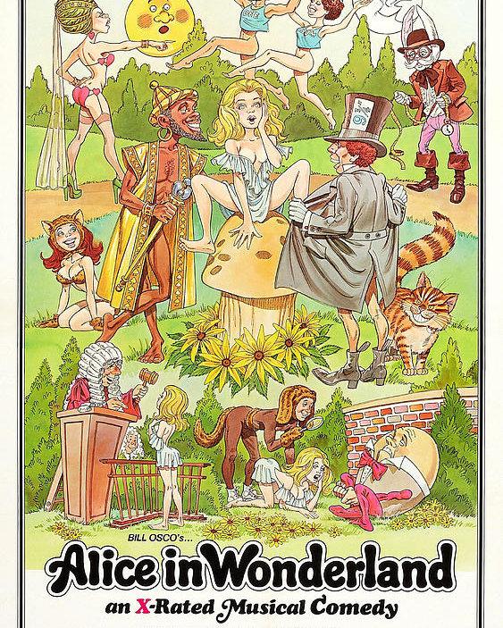 Alice in wonderland bill clipart vector library Bill Osco\'s Alice In Wonderland Poster vector library