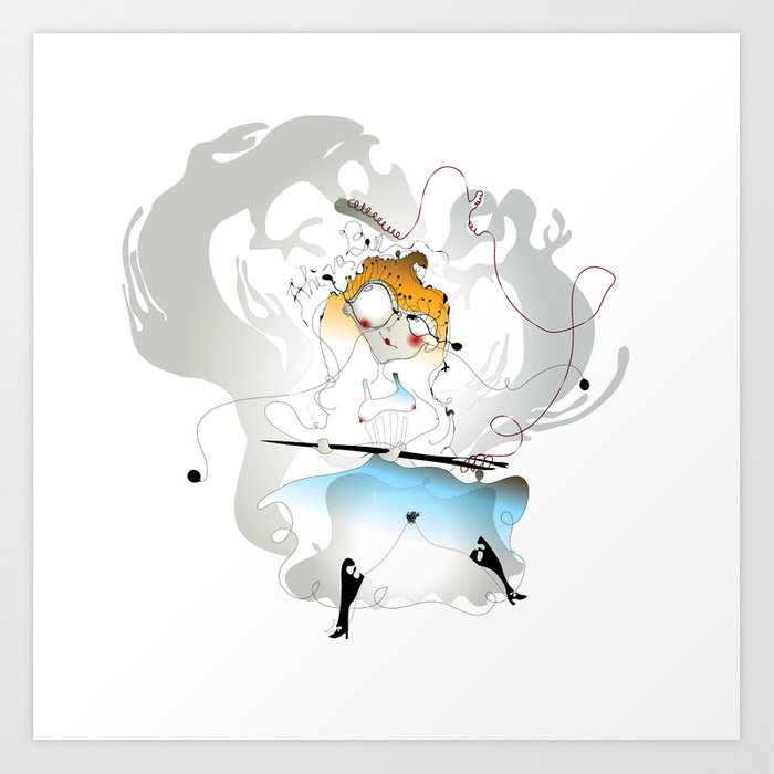 Alice in wonderland bill clipart banner royalty free Alice and Bill - Alice in Wonderland Art Print banner royalty free