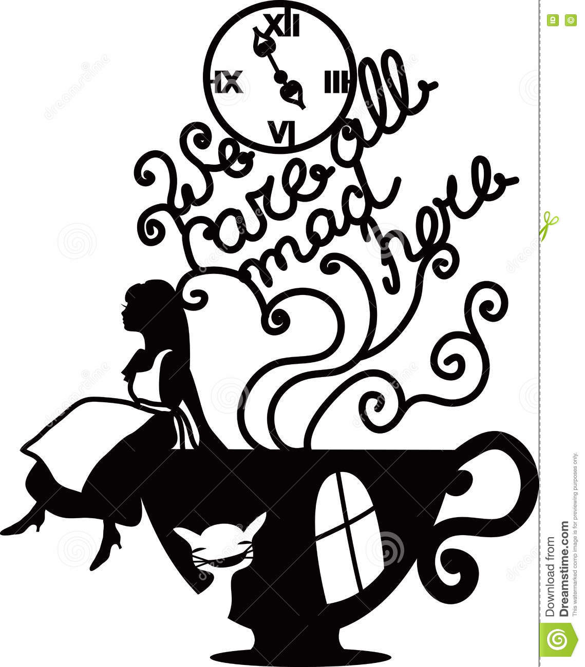 Alice in wonderland black and white clipart jpg free library Alice in wonderland clipart black and white 1 » Clipart Station jpg free library