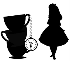 Alice in wonderland bill clipart black and white Image result for alice in wonderland clipart black and white | alice ... black and white