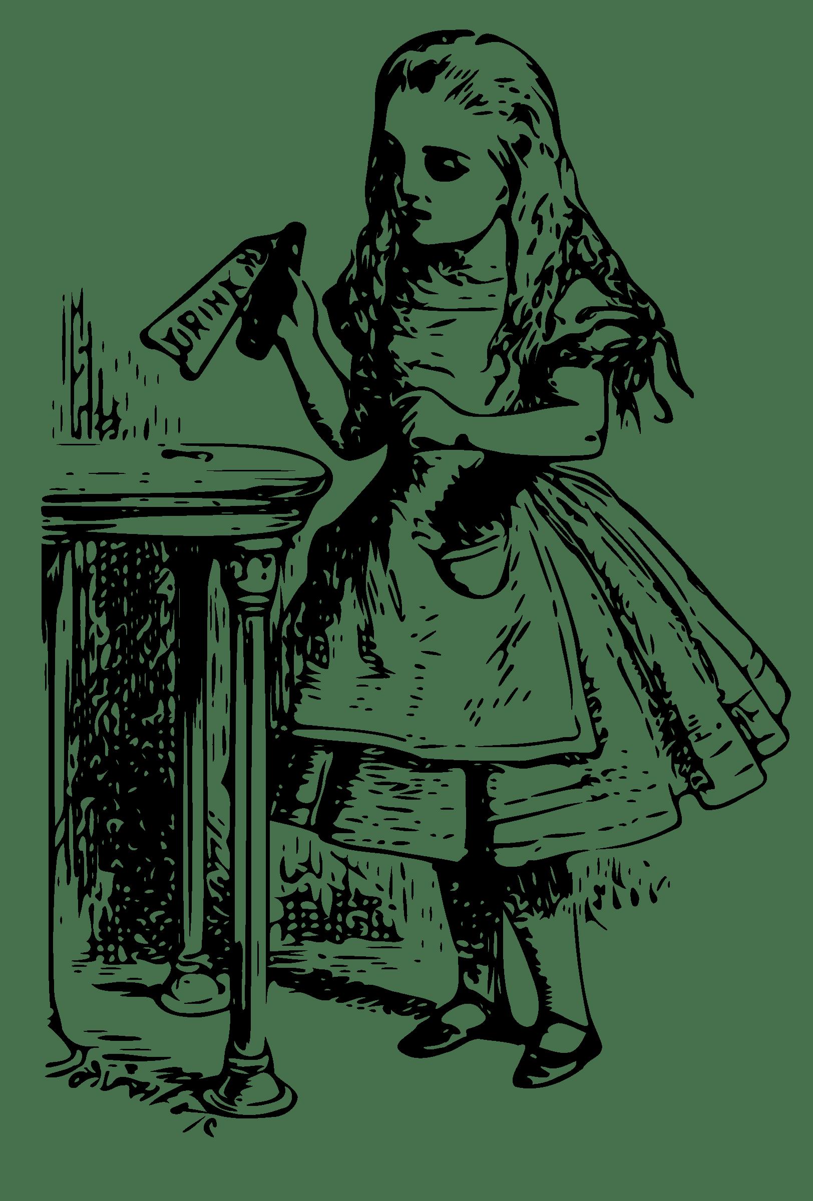 Alice in wonderland book clipart graphic library library Alice In Wonderland Vintage transparent PNG - StickPNG graphic library library
