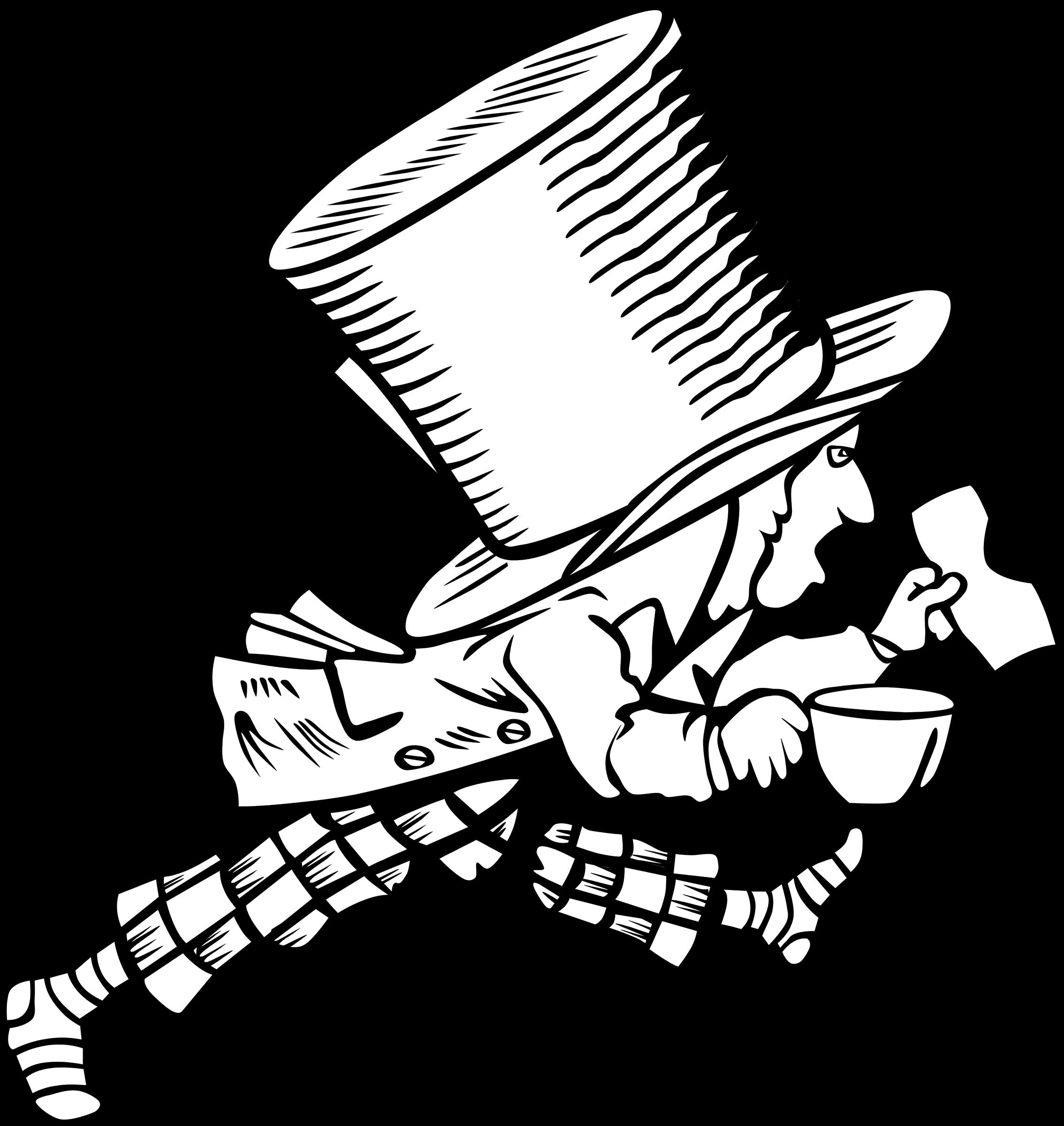 Alice in wonderland book clipart banner transparent Clipart - Mad Hatter banner transparent