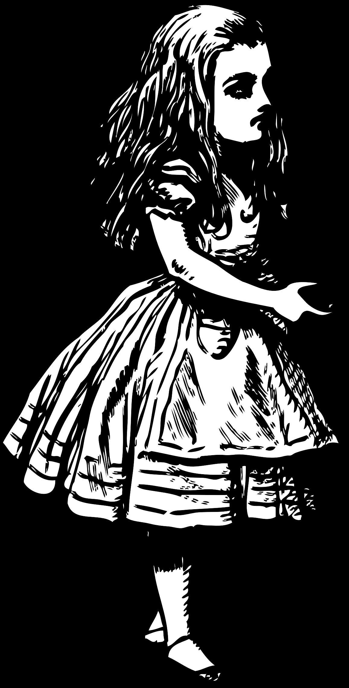 Alice in wonderland book clipart jpg royalty free download Clipart - Alice (in wonderland) jpg royalty free download