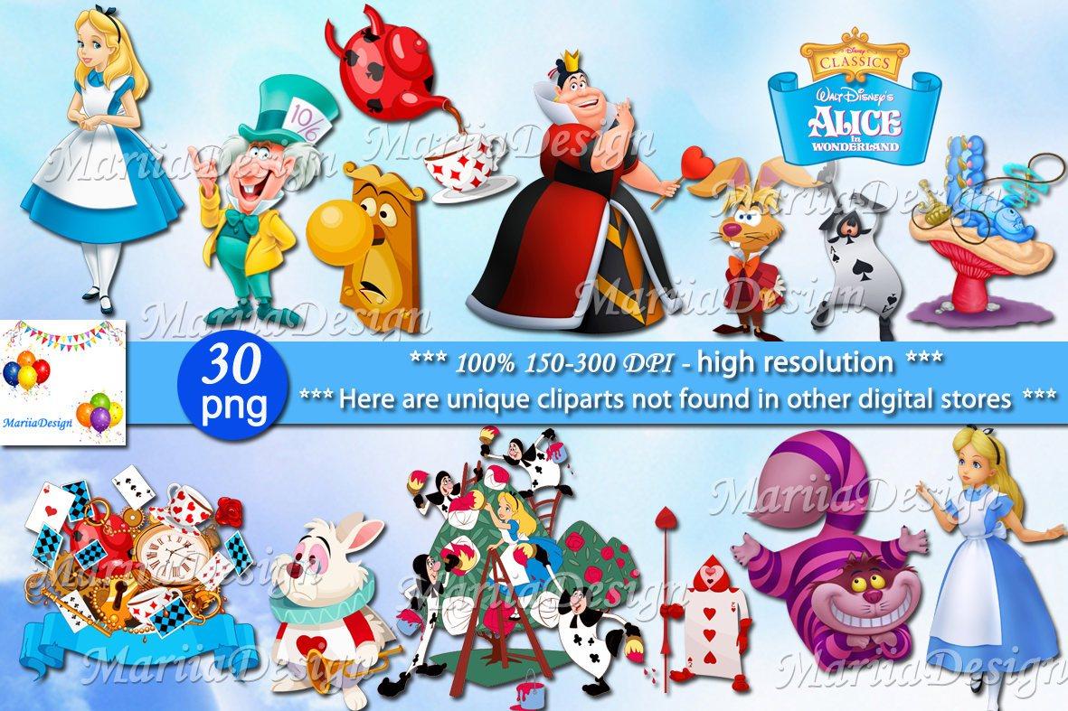 Alice in wonderland clipart png svg freeuse download Alice in wonderland Clipart, 30 PNG - 300 Dpi, Alice in wonderland png,  Alice in wonderland clip art - ONLY FILES svg freeuse download