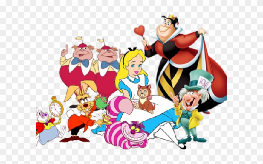 Alice in wonderland clipart transparent png free download Tea Party Clipart Transparent - Alice In Wonderland Characters ... png free download