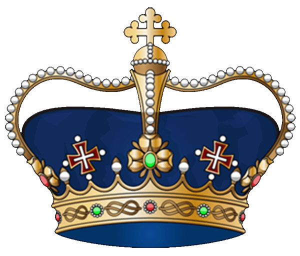 Blue king crown clipart