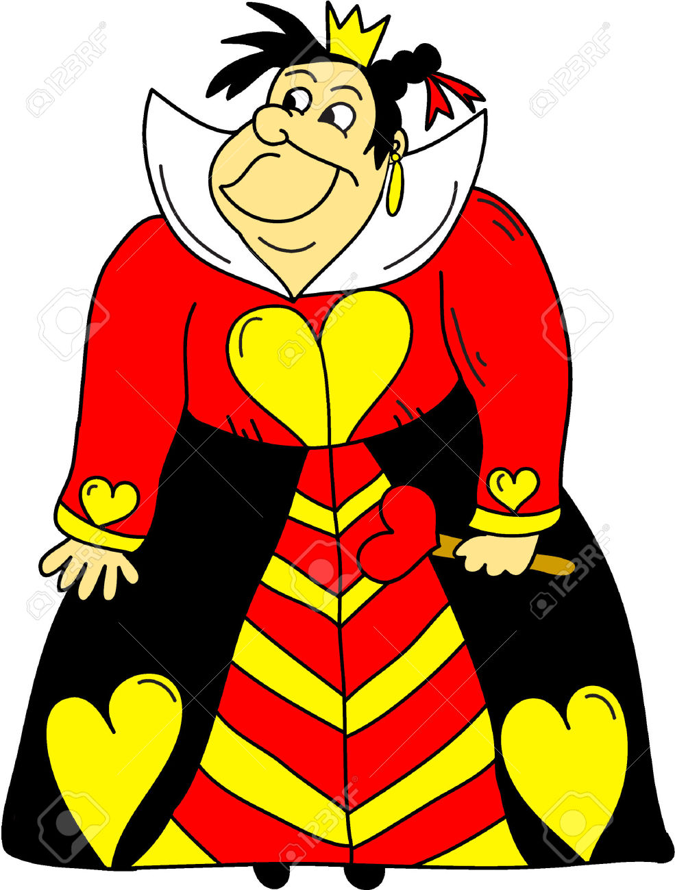 The Queen Of Hearts Clipart- Alice In Wonderland Cartoons Royalty ... image freeuse