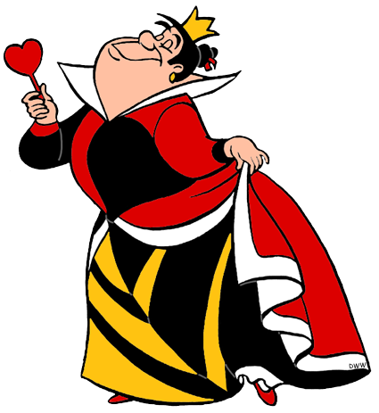 Alice in wonderland queen of hearts clip art. King and images disney