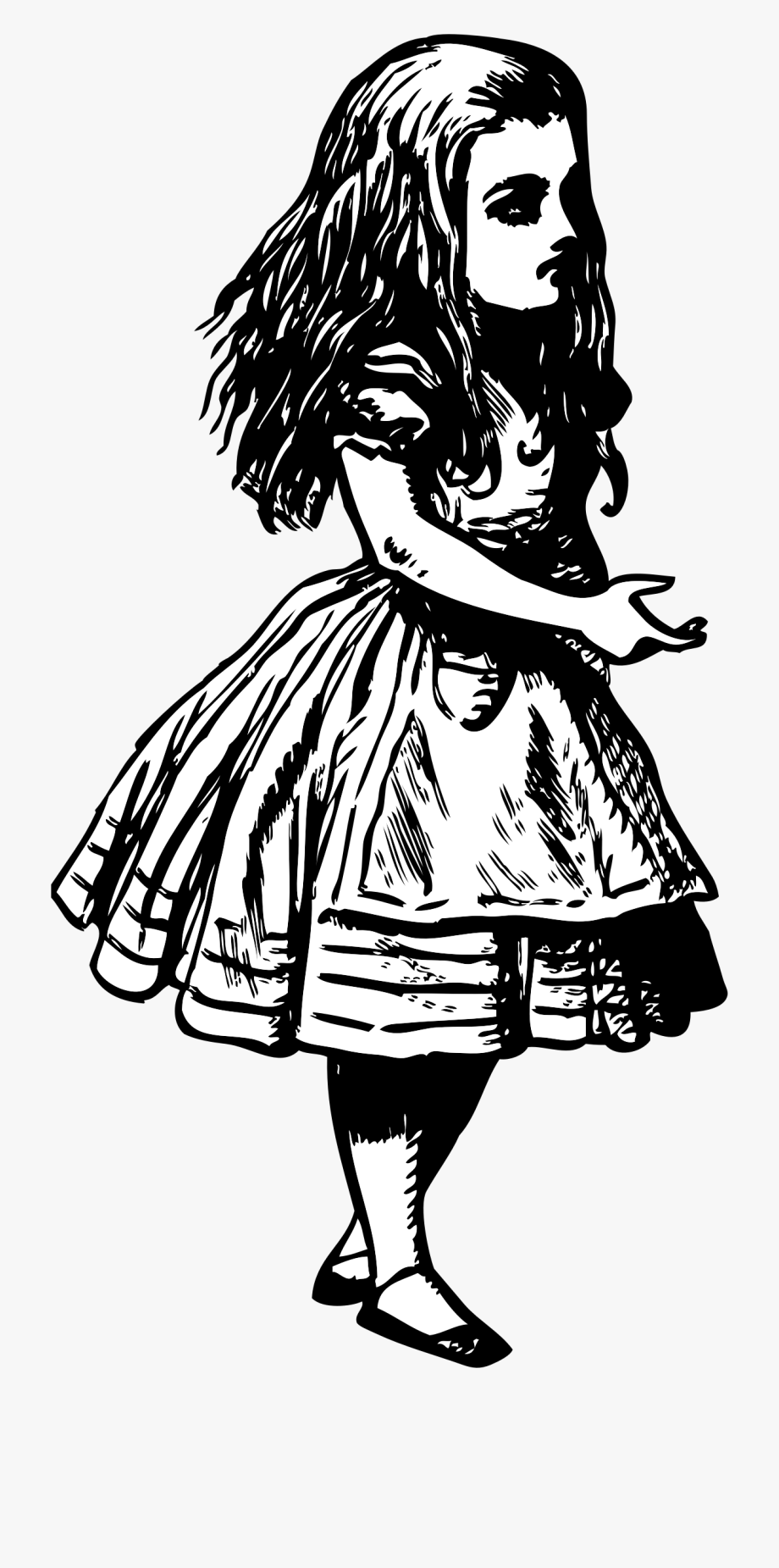 Alice in wonderland upside dow leg clipart png freeuse library Alice By Kinetoons Alice In Wonderland Clipart, Alice - Writing A ... png freeuse library