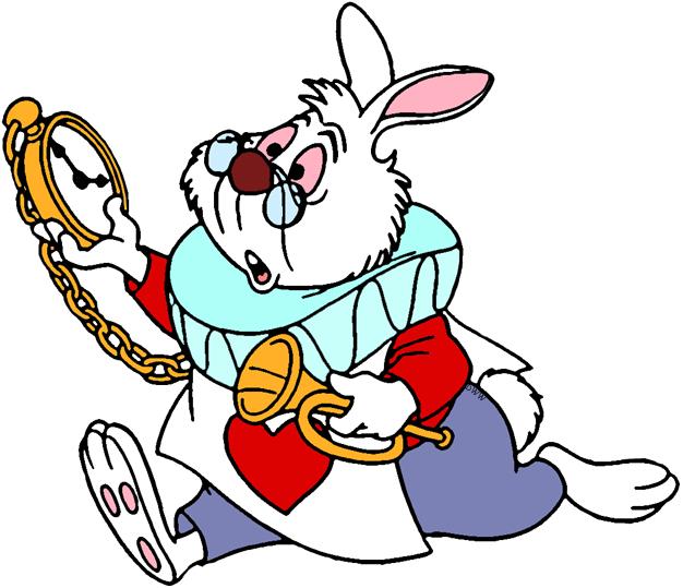 Alice white rabbit clipart vector freeuse library The White Rabbit Clip Art | Disney Clip Art Galore vector freeuse library